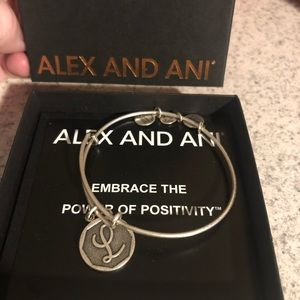 "Alex and Ani ""L"" initial bracelet"